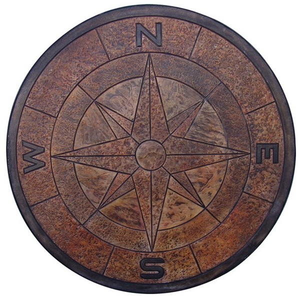 compass-medallion 4 feet